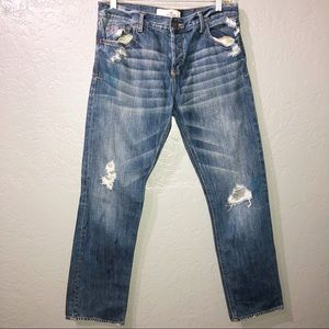 Hollister ripped distressed jeans
